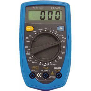 Multimetro-Digital-Cat-II-300V-ET-1400---ET-1400---Minipa
