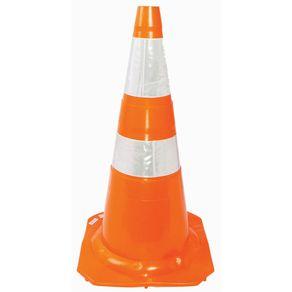 Cone-para-Sinalizacao-Viaria-Branco-Laranja-75cm-35kg---PLA-174---Plasticor