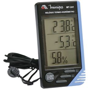 Termo-Higrometro-Temperatura-Interna-e-Externa----MT-241---Minipa