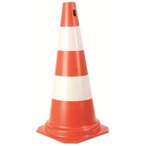 Cone-para-Sinalizacao-Branco-Laranja-50cm-06kg---PLA-004---Plasticor
