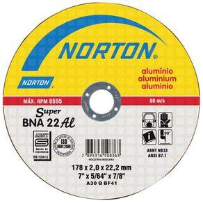 Disco-de-Corte-para-Aluminio-e-Metais-Nao-ferrosos-BNA-22-115x2x223mm---Norton---66252927080---Norton