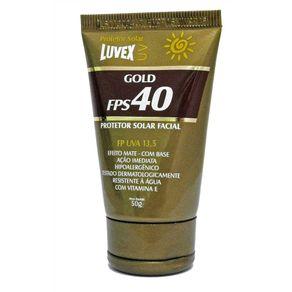 Creme-Protetor--50g-Facial-Solar-FPS-40-Gold-com-Vitamina-E---Luvex---2324---Luvex