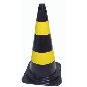 Cone-para-Sinalizacao-Amarelo-Preto-50cm-06kg---PLA-003---Plasticor