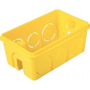 Caixa-de-Passagem-de-Embutir-em-PVC-Retangular-4x2-Amarela-57500-041---Tramontina---57500-041---Tramontina