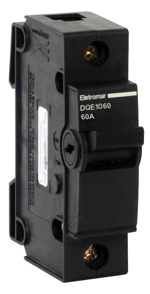 Disjuntor Unipolar NEMA 60A - C 2KA 220V DQE1060 - Eletromar