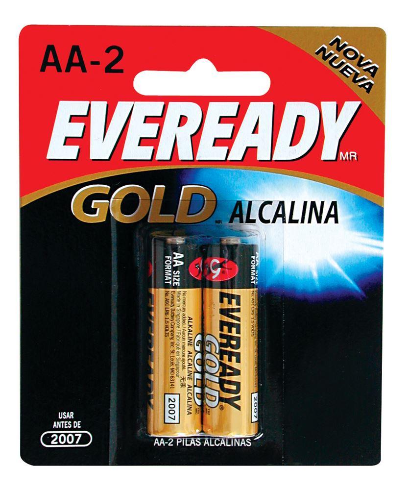 Pilha Alcalina AA 1,5V com 2 Unidades - Energizer