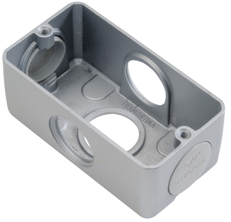 Condulete de Alumínio Tipo C 3 / 4 ´ sem Pintura sem Rosca sem Tampa 56101 / 312 - Tramontina