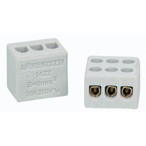 Conector-de-Porcelana-160mm²-Branco-com-3-Bornes-com-Furo-3503S---Sindal---3503-S---Sindal