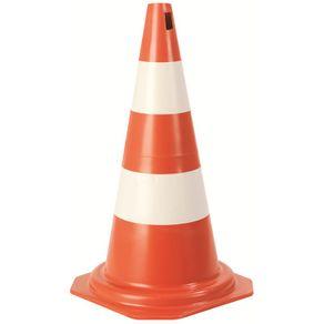 Cone-Sinalizador-Branco-e-Laranja-75cm-15Kg---Plasticor---PLA-008---Plasticor