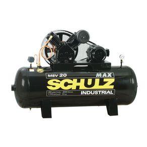 Compressor de Ar Elétrico Industrial Schulz Msv20/250 Trifásico