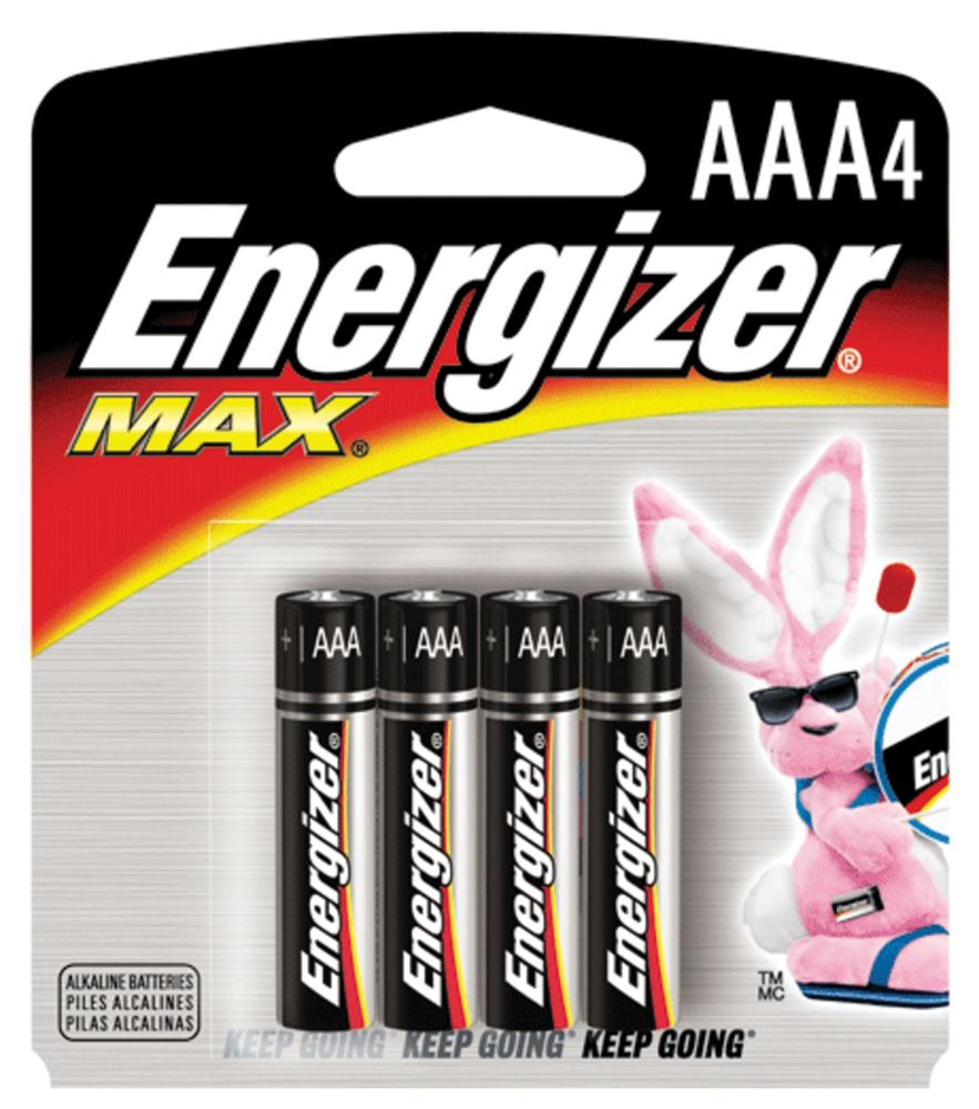 Pilha Palito ( AAA ) Alcalina 1,5V com 4 Unidades 57984 - Energizer