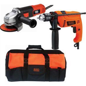 Kit-Esmerilhadeira-G720---Furadeira-HD555---Bolsa-220V-HG5072B---HG5072B---Black-Decker
