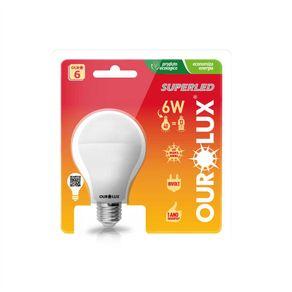 Lampada-Led-Bulbo-6W-Bivolt-E-27-Amarela-2700K-Ourolux---20025-6W---Ourolux