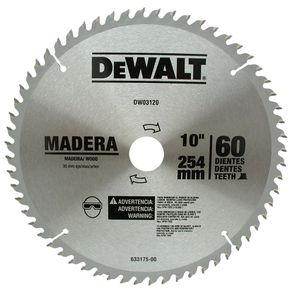 Lamina-Serra-Circular-254x30mm-60-Dentes-para-Madeira---Dewalt---DW03120---Dewalt