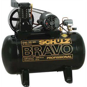 Compressor-Ar-Bravo-CSL-10BR-100L-140lbs-2CV-Trifasico-220-380V---9217851-0---Schulz