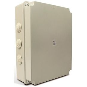 Caixa-de-Montagem-PVC-390x310x127mm-IP56-Cinza-com-Tampa-Opaca---Steck---ST44210-N---Steck