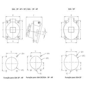 Tomada-Industrial-Embutir-3P-T-16A-380V-6H-Vermelho-N-5046-IP44---Steck---N-5046---Steck