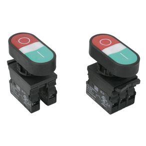 Botao-Duplo-com-Sinalizacao-22-Verde---Vermelho-com-LED-1NA-1NF---Weg---10046334---Weg