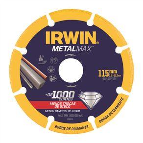 Disco-de-Corte-Diamantado-para-Metais-115x13x22mm-P-aco-Inox-Metalmax---Irwin---1998845---Irwin