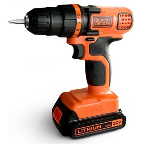 Furadeira-Parafusadeira-3-8-Bateria-20V-Litio-LD120-Bivolt---Black---Decker---LD120---Black-Decker