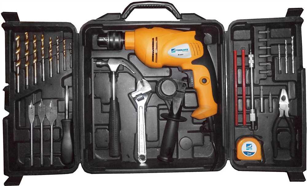 kit furadeira de impacto toolmix - presente para o dia dos pais - mes dos pais na fg - ferramentas gerais