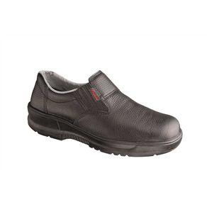 Sapato-em-Couro-Elastico-e-Biqueira-Plastica-37-Bidensidade---Conforto---SV62502---37---Conforto