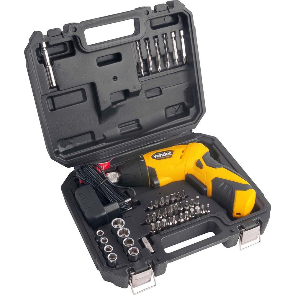 kit parafusadeira a bateria vonder - ferramentas eletricas - dia dos pais - presente do dia dos pais - mes dos mais na fg - ferramentas gerais