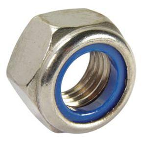 Porca-Auto-Travante-Sextavada-NC-1-4-Inox-DIN-985---61615400---Ciser