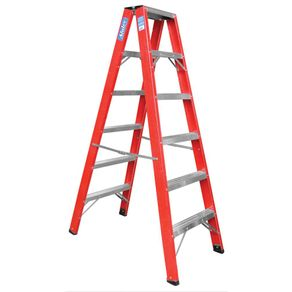 Escada-de-Abrir-Fibra-de-Vidro-2-Lados-6-Degraus-180m---FP106---Alulev
