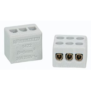 Conector-de-Porcelana-60mm²-Branco-com-2-Bornes-com-Furo-302S---Sindal---302-S---Sindal