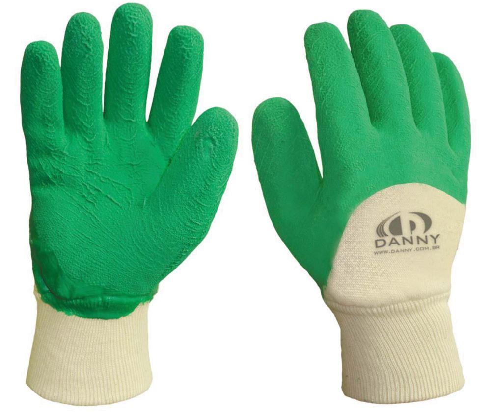 Luva de Algodão Revestida de Borracha com Palma Corrugada cor Verde G -  Danny 14d37953b5