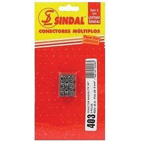 Conector-em-Barra-600mm²-Preto-com-3-Bornes-Baquelite---Sindal---403-S---Sindal