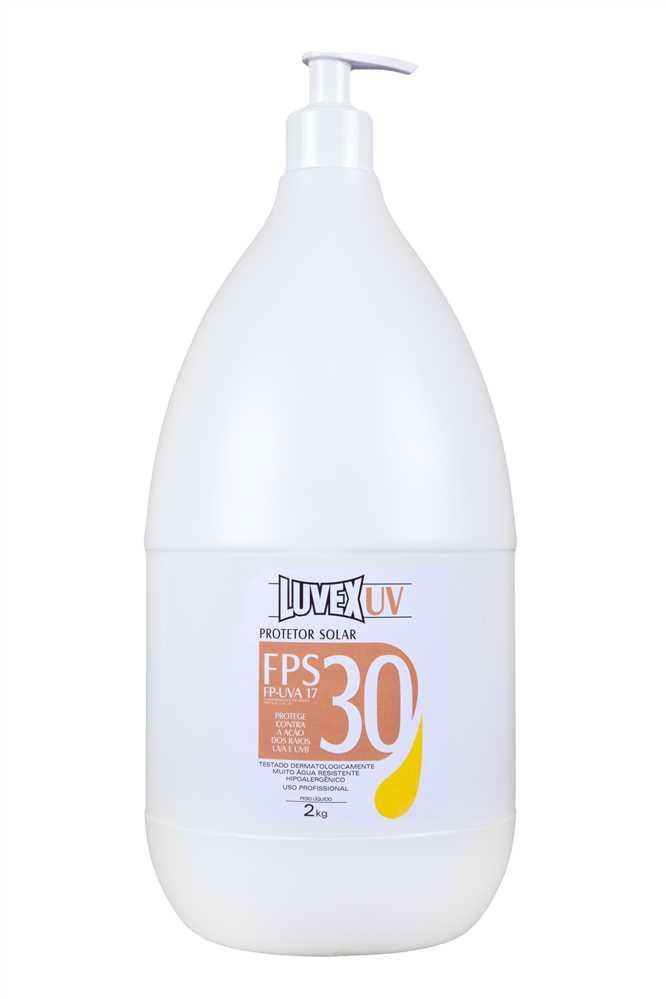 ab1242889c21f Creme Protetor Solar 2kg FPS-30 Contra Raios UVA UVB - Luvex ...