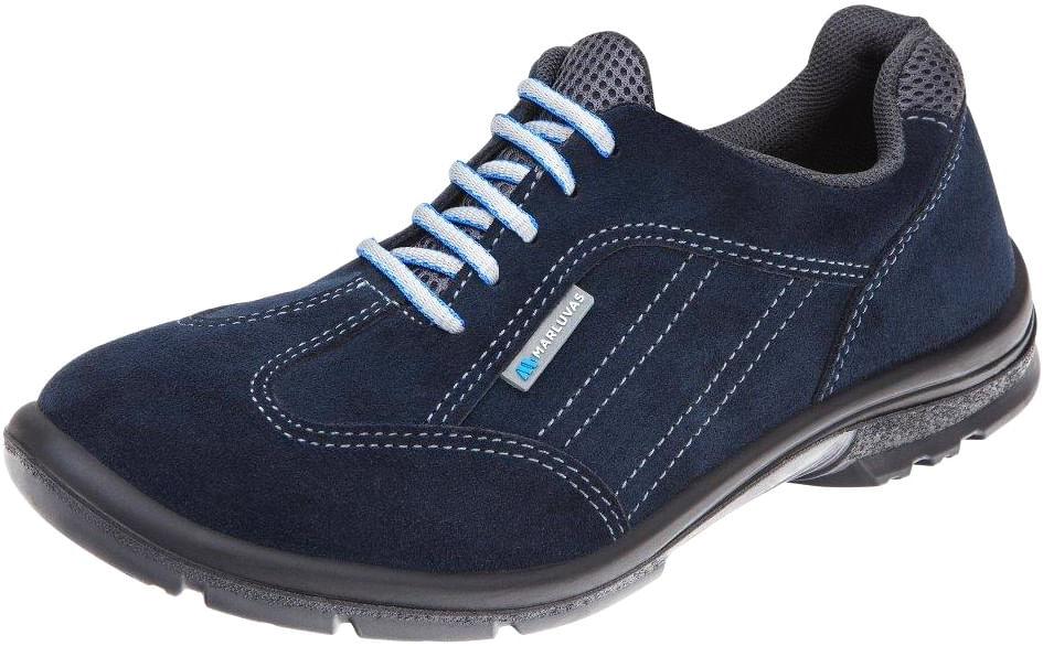 d8ee390cd4926 Tênis Camurça com Cadarço Bidensidade sem Biqueira Cano Baixo Elegance cor  Azul - Marluvas