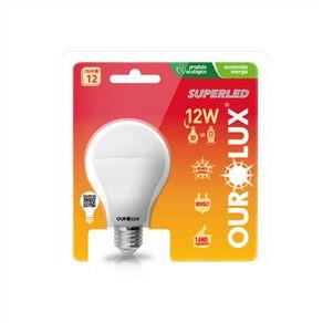 Lampada-Led-Bulbo-12W-Bivolt-E-27-Amarela-2700K-Ourolux---20045-12W---Ourolux