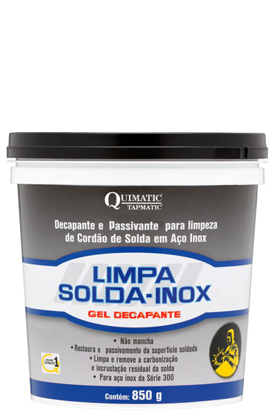 fe645dbcb LIMPA-SOLDA-INOX QUIMATIC Gel Decapante - LS1 850g - Tapmatic ...