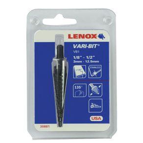 Broca-Escalonada-3mmx125mm--Aco-Rapido-para-Chapa---Lenox---30445---Lenox