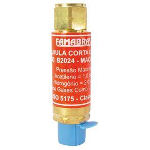 Valvula-Seca-Corta-Chama-Oxi-Combustivel-Acetileno-Descartavel---FSVG-M---Famabras