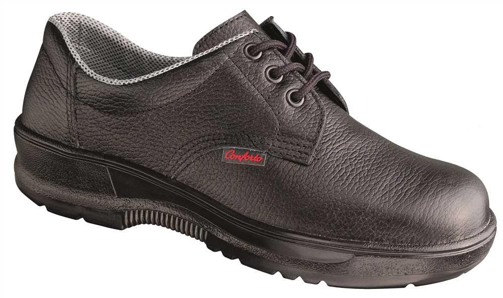 a8bc4c1738ec4 Sapato em Couro com Cadarço e Biqueira Plástica Bidensidade - Conforto