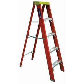 Escada-de-Fibra-de-Vidro-Tesoura-1-Lado-4-Degraus-152m---Cogumelo---RF-4---Cogumelo