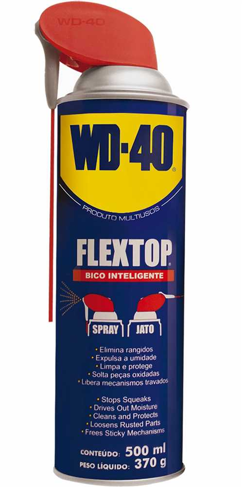 Óleo Lubrificante FLEXTOP Multiuso Spray ou Jato 500ml - WD-40 ... 861ed57400