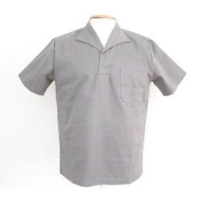 Camisa-de-Brim-Manga-Curta-58-GG-Cinza---Wico---GG58-MCURTA---Wico-