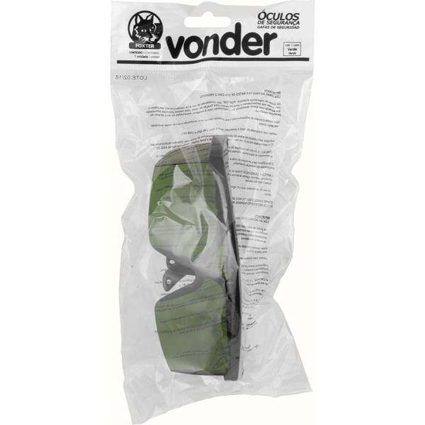Óculos de Segurança Policarbonato Foxter com Lente Cinza - VONDER ... c3faaa6423